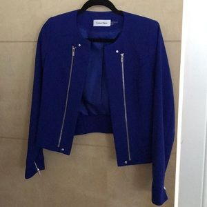 Calvin Klein Blue Moto Jacket